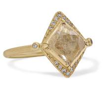 Kite Halo Ring aus 18 Karat  mit Diamanten