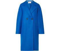 Doppelreihiger Oversized-mantel aus Wollfilz