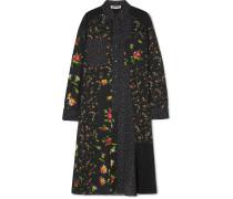 Hemdkleid aus Georgette mit Blumenprint