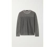 Pullover aus Jacquard-strick aus einer Kaschmirmischung