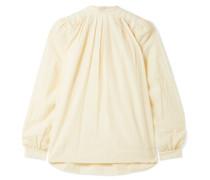 The Athena Bluse aus Voile aus einer Baumwoll-wollmischung