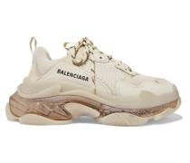 Triple S Clear Sole Sneakers aus Leder, Nubukleder und Mesh