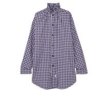 Oversized-hemd aus Kariertem Baumwollflanell