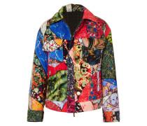 Wendbare, Bedruckte Jacke aus Baumwollsamt und Wolle