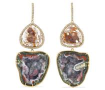 Ohrringe aus 18 karat  mit Geoden und Diamanten