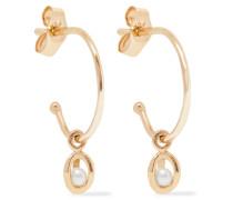 Orbit Ohrringe aus 9 Karat  mit Perlen
