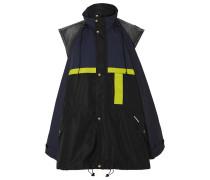Mehrlagige Oversized-jacke aus Shell und Denim