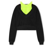 Verkürztes, Mehrlagiges Sweatshirt aus Stretch-jersey