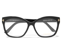 Brille mit Eckigem Rahmen aus Azetat