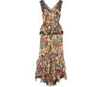 Floral Bedruckter Jumpsuit aus Seidensatin