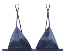 Luxe Bügelloser Triangel-bh aus Stretch-seidensatin