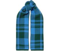 Karierter Schal aus Woll-jacquard