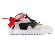 Low-top-sneakers Aus Veloursleder Und Leder