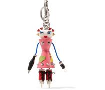 Nana Verzierter Schlüsselanhänger aus Strukturiertem Leder