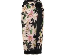Pareo aus Baumwoll-voile mit Blumenprint