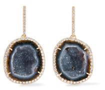 Ohrringe aus 18 karat  mit Drusen und Diamanten