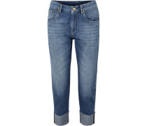 Verkürzte Boyfriend-jeans
