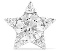 7 Mm Ohrring aus 18 Karat  mit Diamanten