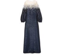 Robe aus Lurex® und Tüll mit Verzierungen