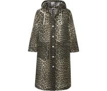 Mantel aus Mattem Pur mit Leopardenprint