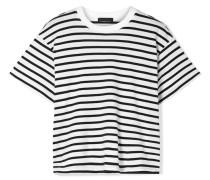 Boy Gestreiftes T-shirt aus Baumwoll-jersey