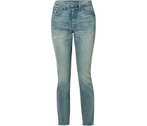 Karolina Hoch Sitzende Skinny Jeans in Distressed-optik
