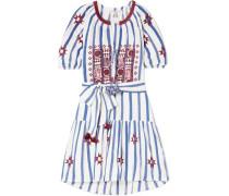 Bria Besticktes Minikleid aus Baumwoll-voile
