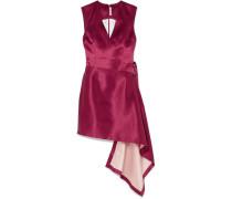 Asymmetrisches Kleid aus Gehämmertem Satin