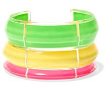 Jelly Set aus Drei Armspangen aus Plexiglas® und Emaille