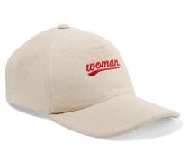 Bestickte Baseballcap aus Baumwoll-jersey