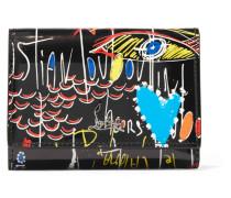 Boudoir Bedrucktes Portemonnaie aus Lackleder