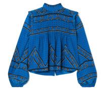 Cloverdale Bluse aus Bedrucktem Crêpe De Chine aus Seide