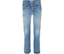 Twisted Hoch Sitzende Jeans mit Geradem Bein