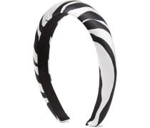 Tori Haarreif aus Seidensatin mit Zebraprint