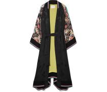 Mantel aus Bedrucktem Seiden-jacquard
