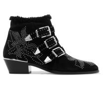 Susanna Ankle Boots aus Veloursleder