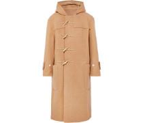 Oversized-dufflecoat aus Wolle mit Kapuze