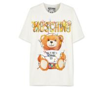 Bedrucktes Oversized-t-shirt aus Elastischem Baumwoll-jersey