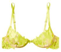 Lily Neonfarbener Bügel-bh aus Satin und Stretch-tüll