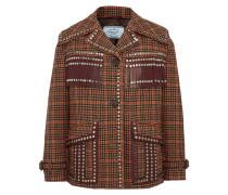 Tweed-jacke aus einer Karierten Wollmischung