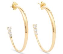 Aria Creolen aus 18 Karat  mit Diamanten