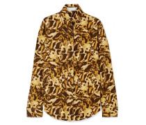 Hemd aus Jersey mit Leopardenprint