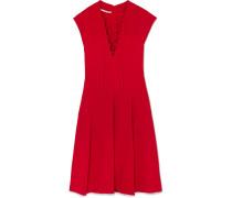 Kleid aus Stretch-cady mit Schnürung