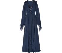 Verzierte Robe aus Seidenchiffon