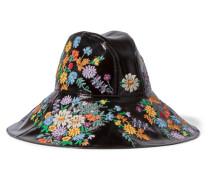 Hut aus Strukturiertem Lackleder