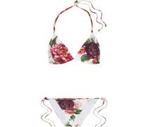 Triangel-bikini mit Blumenprint