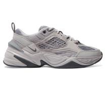 M2k Tekno Sneakers aus Leder, Canvas, Cord und Mesh