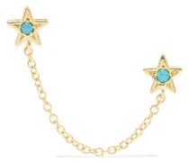 Star Ohrringe aus 18 Karat  mit Türkisen