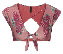 Birds Bedrucktes Bikini-oberteil mit Cut-out