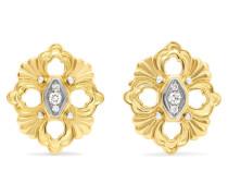Opera Ohrringe aus 18 Karat Gelb- und Weiß